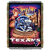 Officially Licensed NFL Houston Texans 'Home Field Advantage' Woven Tapestry Throw Blanket, 48' x 60', Multi Color