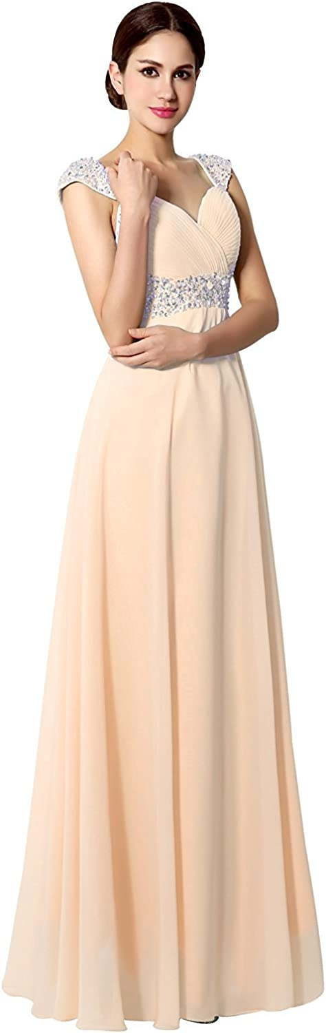 Sarahbridal Women's Prom Dresses 2018 Long Evening Gowns Bridesmaid Maxi Formal Pink US10