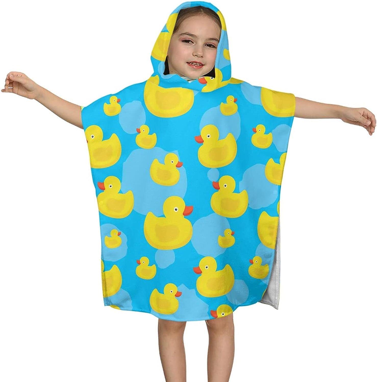 Hooded Bath Towel Cute Yellow Soft Wrap B Max 71% OFF Cheap bargain Kids Duck