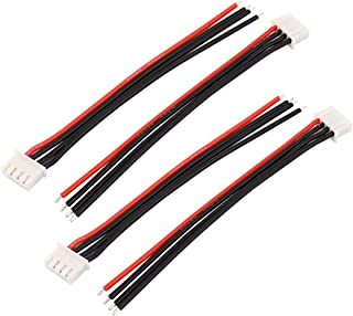 uxcell 4Pcs 3V 3S LiPo Battery Balance Charger Cable Lead Wire Connector
