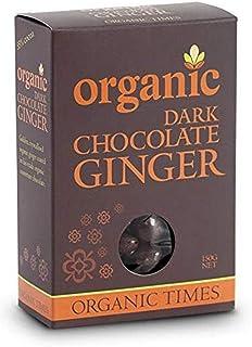 Organic Times Organic Dark Chocolate Coated Ginger Packet, 150 g
