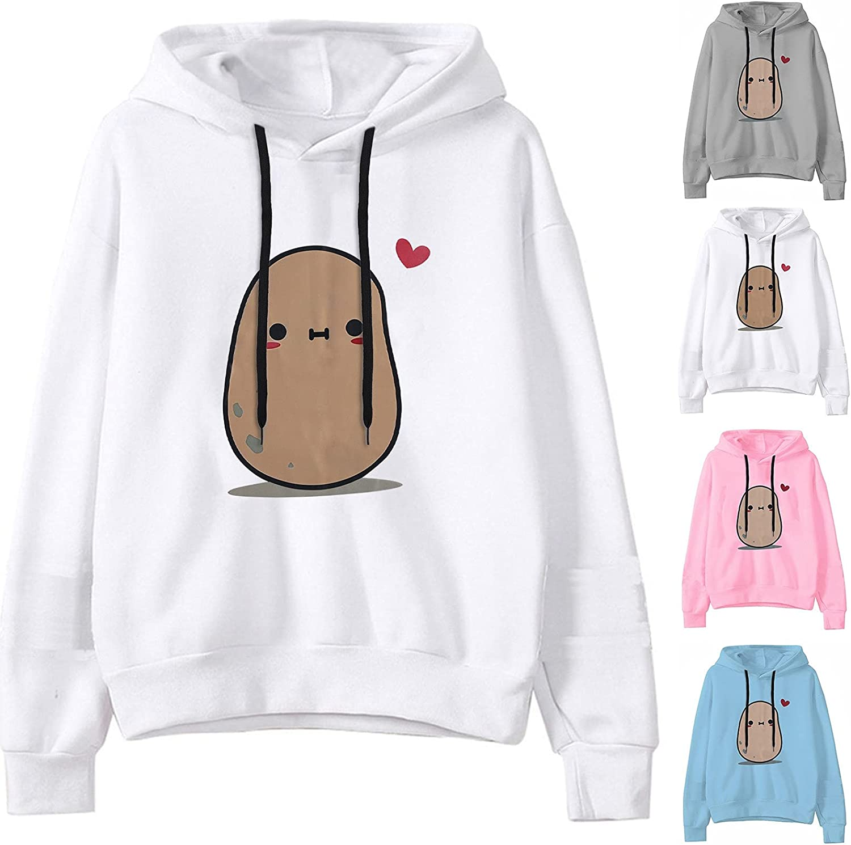 Womens Hoodies,Women Hoodies Teen Girls Cartoons Printed Sweatshirt Long Sleeve Casual Pullover Shirts