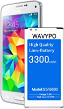 Galaxy S5 Battery, (Upgraded) Wavypo 3300mAh Replacement Battery for EB-BG900BBC Samsung Galaxy S5 G900A, G900F, G900H, I9600, G900P, G900V, G900T, G900R4, S5 Spare Battery [36 Months Warranty]