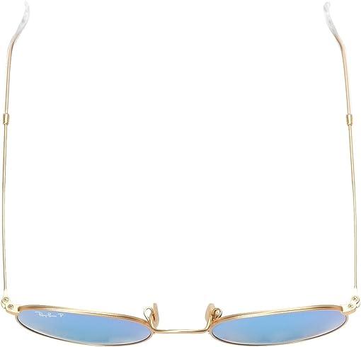 Matte Gold/Blue Mirror Polar