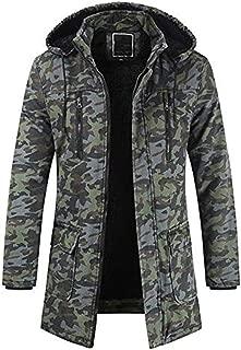 YANYUN Coats for Men Winter Fashion with Hood Zipped Fashion 2019 Warm Tracksuit Casual Long Sleeve Pullover Outwear Coat