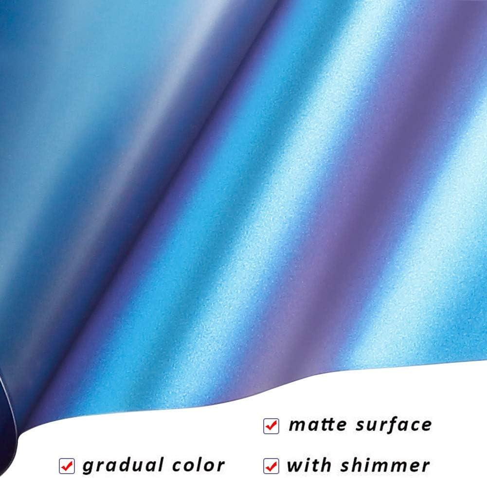 Chameleon termoadesivo in vinile per magliette fai da te Confezione da 10 pezzi da 30,5 x 25,4 cm colore sfumato funziona con cammeo silhouette e cricut.