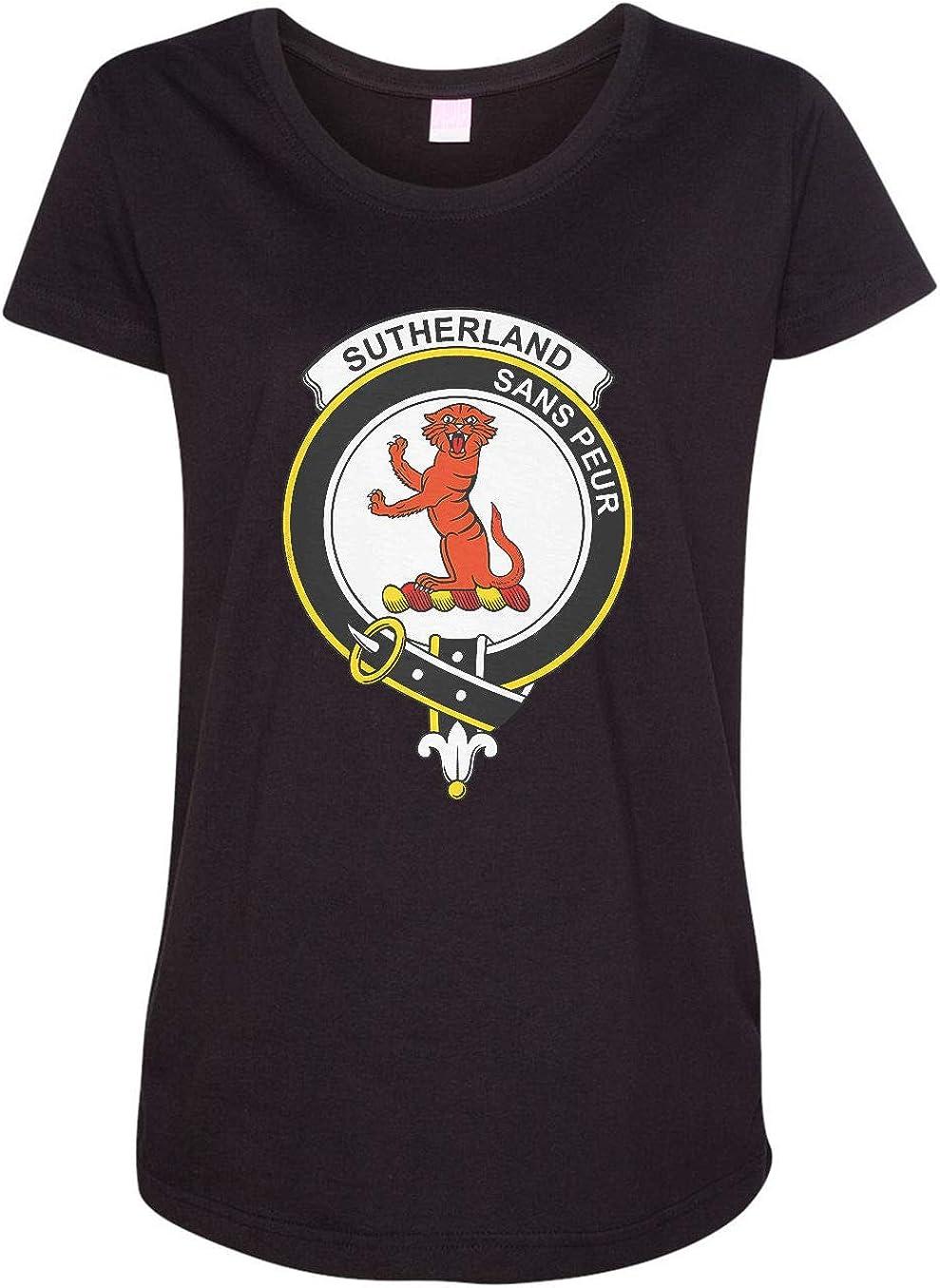 HARD EDGE DESIGN Women's Scottish Clan Crest Badge Sutherland I T-Shirt