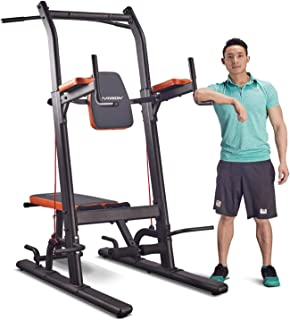 body power deluxe power tower with straps