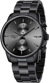 Montres pour Hommes avec Montre à Quartz chronographe étanche décontractée en Acier Inoxydable et en métal, Date Automatiq...