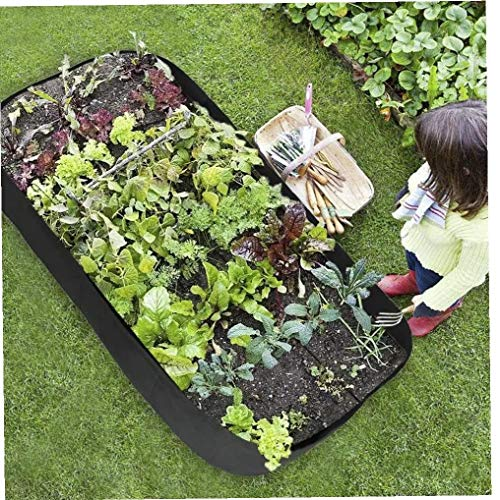 Grow Bed Large Planting Bag Raised Planter Container Square Divided Garden...