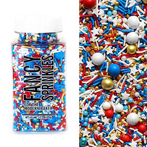 Fancy Sprinkles Edible Glitter Sprinkles for Baking, 4 oz (Golden Eagle)