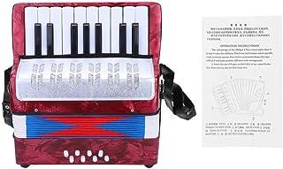 Accordéon pour enfants, accordéon accordéon à 17 basses 8 touches avec sangle réglable, instrument de musique éducatif jou...