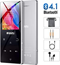 Mp3 Player with Bluetooth,Built-in Speaker,8GB Lossless Sound Music Player with Pedometer for Walking,Support FM Radio Voice Recording,up to 128GB Silver