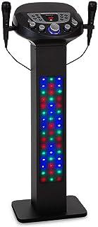 AUNA KaraBig Lightup - Système karaoké, Bluetooth, 2X Microphone à Main, Lightshow LED, Support de Tablette, écran, Port U...