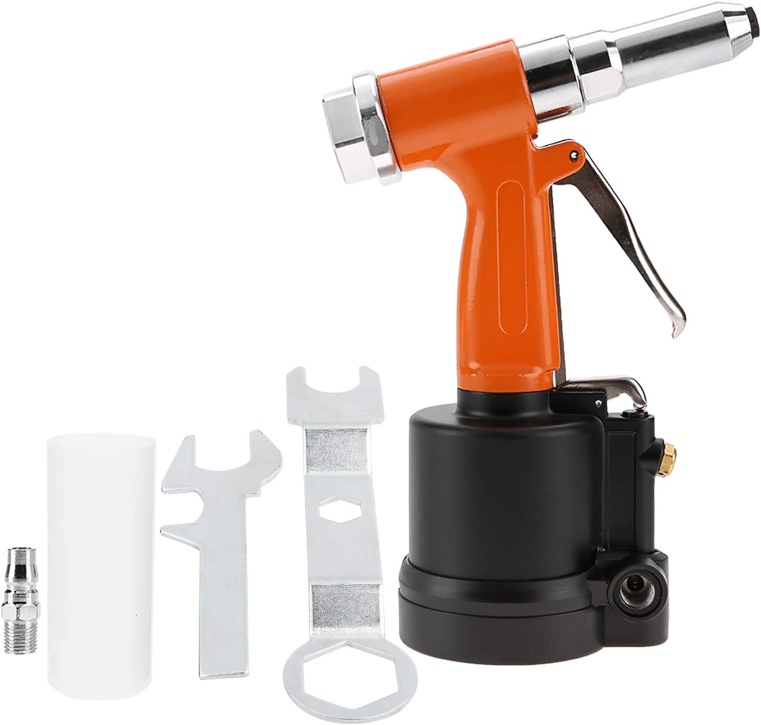 Pistola hidráulica de peso ligero industrial para uñas, potente pistola de clavos, herramienta de remachado neumática hidráulica para herramienta de perforación(Naranja negro)