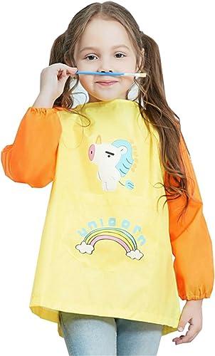 EXCEART Enfants Art Blouse Enfants Tablier Artistes Tabliers Tabliers de Cuisson Peinture Imperm/éable Blouse pour La Cuisson Cuisson Peinture V/êtements de Formation