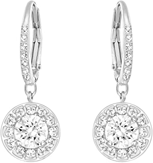 Swarovski Crystal Authentic Attract Rhodium Plated Enchanting and Bedazzling White Light Pierced Earrings