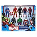 Marvel Avengers Action Figures - Iron Man, Hulk, Black Panther, Captain America, Spider Man, Ant Man, War Machine & Falcon! (8 Action Figures) from Hasbro