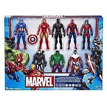 Marvel Avengers Action Figures - Iron Man Hulk Black Panther Captain America Spider Man Ant Man War Machine & Falcon!  8 Action Figures
