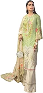 فستان نسائي أصفر اللون بتصميم إسلامي هندي / باكستاني بدون كتف مطرز ثقيل فستان ليهينغا زي حفلات الحجاب 6069