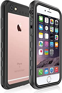 iPhone 6 / 6s Waterproof Case, ImpactStrong [Fingerprint ID Compatible] Slim Full Body Protection Cover for Apple iPhone 6 / 6s (SA) - Black