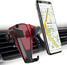 Foluu Car Phone Mount Holder Universal Car Air Vent Holder With Silica Gel and Spring Design One Hand Operation for iPhone X/8/8plus/7/7plus Samsung Galaxy S9/S9 Plus/S8/S8 Plus S7/S7 Edge (Red)