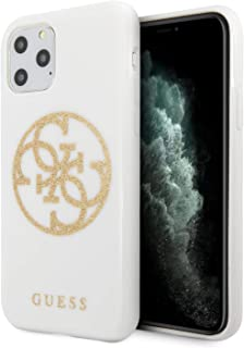 CG Mobile TPU/Pc Hard Case for iPhone 11 Pro Cell Phone Cover 4G Glitter Circle White/Gold Shock Absorption Case Officiall...