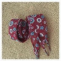 HND ワイドカラフルな花ナイロン靴ひもシルクリボン超薄型半透明の靴ひも文字列のロープを印刷する1ペアの2.5センチメートル (Color : 01 Wine Red, Size : 100cm)