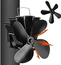 TENGGO Ventilador de Estufa ecológico de 4/5 Palas Ventilador de Chimenea doméstico de bajo Ruido Distribución eficiente del Calor-Tipo A