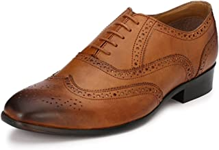 Afrojack Men's Leather Handmade Brogue Shoes