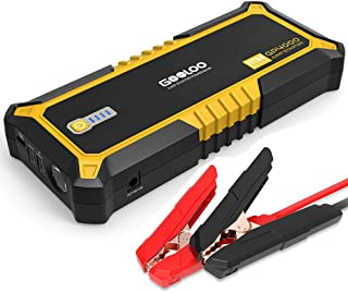 GOOLOO 4000A Peak SuperSafe Car Jump Starter (All Gas, up to 10.0L Diesel Engine) 12V Auto Battery Jumper Booster with USB Quick Charge and Type C Port, Portable Power Pack for Trucks, SUVs