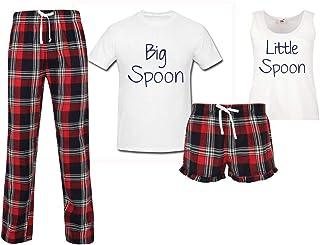 60 Second Makeover Limited Big Spoon Little Spoon Couples Matching Pyjama Tartan Set Couples Pajamas Christmas Birthday