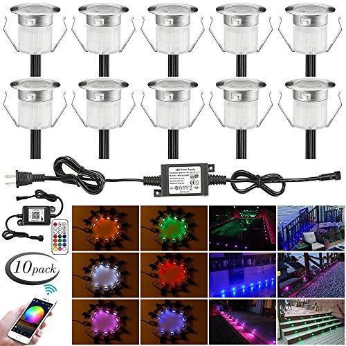 LED Deck Lights Kit, 10pcs Φ1.18