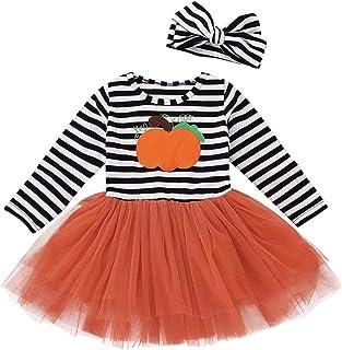 Baby Girls Autumn Dress,Boomboom Pumpkin Ghost Infant Baby Girls Dresses Halloween Toddler Costume (18M, Multicolor 2)