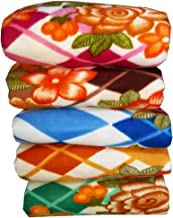 VYBBA Fleece Single Bed Blanket, 55x88 inch Multi Color - Set of 5