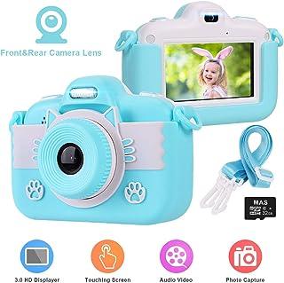 Cámara de Fotos para Niños slopehill Cámara Infantil Cámara de Video con Pantalla Táctil de 3 Pulgadas 8MP 1080P HD Cámara Digital Juguetes Regalo Niños 3-10 Años (Tarjeta TF de 32GB Incluida)
