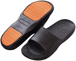 HB-Household Womens Or Mens Antimicrobial Shower Water Sandals/Flip Flops/Slippers for Pool, Beach, Dorm & Gym, Outdoor, Indoor, Bedroom, Home/House (42-43, Black)