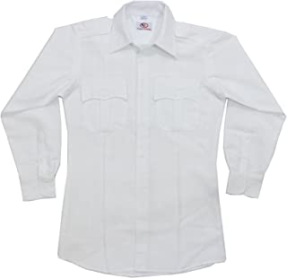 First Class 100% Polyester Long Sleeve Men's Uniform Shirt White