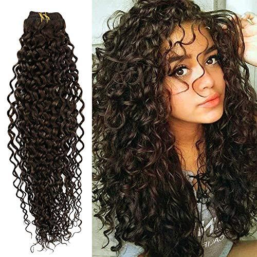 YoungSee Tête Pleine Extensions a Clip Cheveux Naturel Wavy Clip Extension Cheveux Naturel Ondule Marron Foncé Clips Cheveux Extension 7pcs/120g 24 Pouces