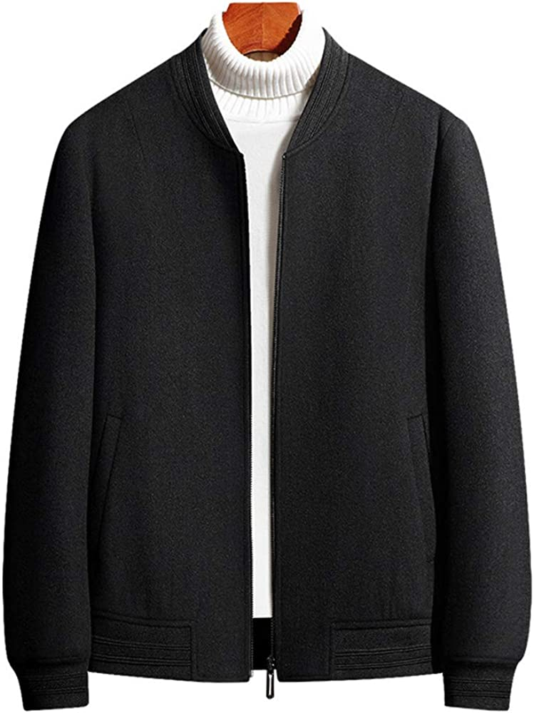 MMCICI Men's Wool Cardigan Full Max 45% OFF Zip Knitted Slim Sweater All stores are sold Sty Fit