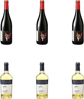 [ 6本 まとめ買い ワイン 飲み比べ ] 2017年 コート デュ ローヌ ルージュ ル プティ アンデゾン (エステザルグ ブドウサイバイシャクミアイ) 750ml と 2018年 キアンタリ シャルドネ (ヴィニエティ ザブ) 750ml...