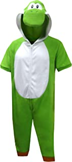 Men's Super Mario Yoshi Cropped Leg One Piece Pajama