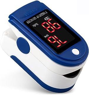 XXGI Medidor De Glucosa En Sangre Y Dedo Oxímetro De Pulso Y Monitor De Ritmo Cardíaco Oxímetro De Oxígeno Y Oxímetro De Sangre Con Bolsa De Transporte Para Adultos Niños Perfectos Para Uso Deportivo
