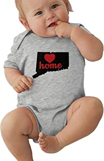 Infant Baby Girl Boy Australian Shepherd Silhouette with Heart OutfitsRomper Jumpsuit Short Sleeve Bodysuit Tops Clothes
