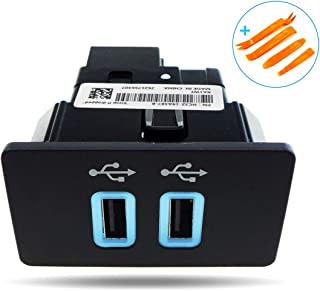 TIKSCIENCE Dual USB Interface Module for Ford Apple Carplay SYNC 3 Only HC3Z-19A387-B USB Hub with Removal Tool Kit,Blue