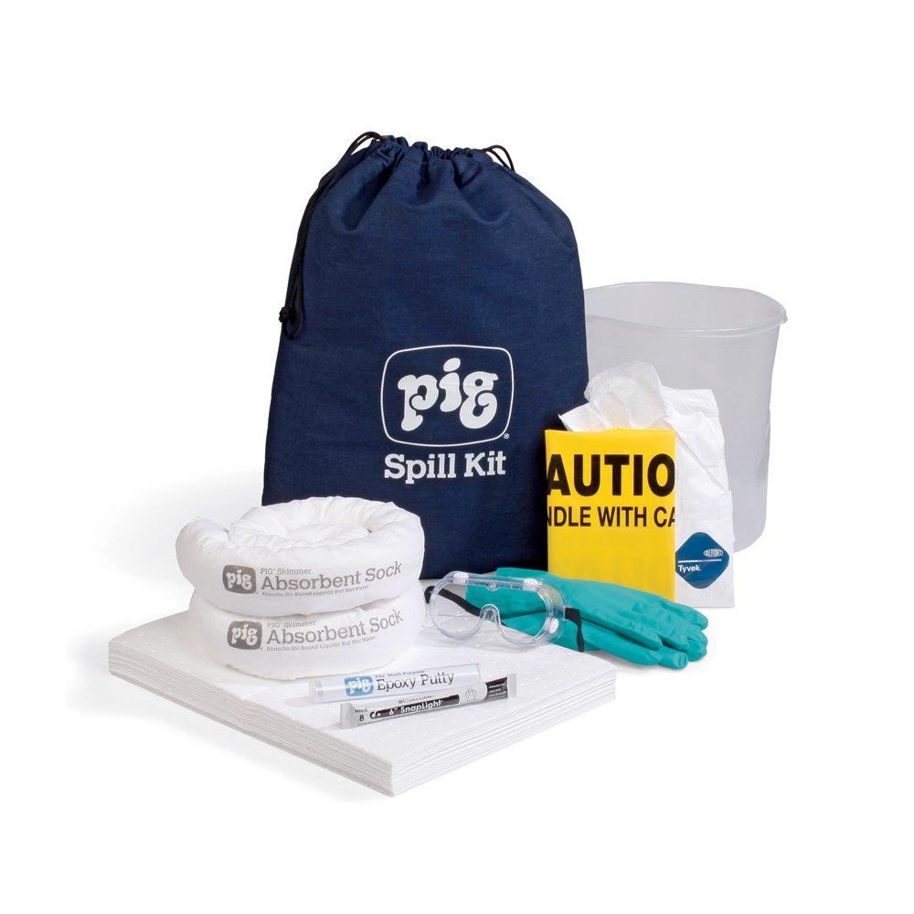 New online shopping Pig Oil-Only Spill Kit in Bag Absorbency Super sale Duffel Denim 6-Gal