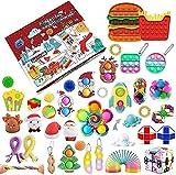 Shoopeet Fidget Toys Calendrier de Noël avec compte à rebours sensoriel, 24 jours, calendrier de l'Avent sensoriel, coffret cadeau 2021, Push Pop simple, cadeau surprise pour garçons et filles (C)