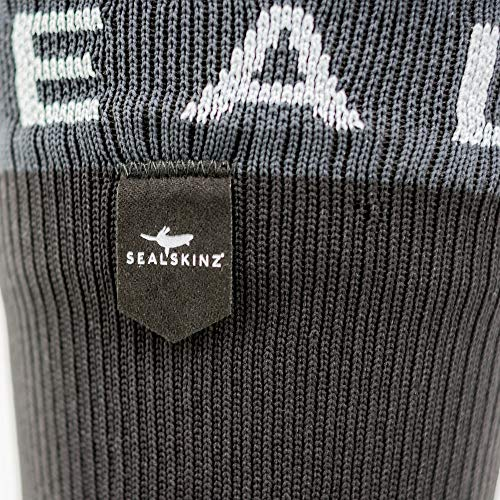 SealSkinz Waterproof Trekking Thick Mid Socks Black/Anthracite, S - 4