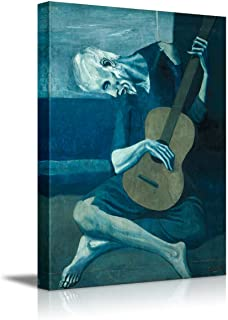 wall26 - The Old Guitarist by Pablo Picasso - Canvas Art Wall Decor - 24