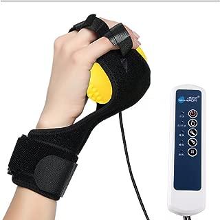 RanBow 手マッサージ機 ハンディ 指開きと固定型 手 指 手のひら 爪もみ マッサージ 振動 120個マッサージ凸点 赤外線で温め 自動・手動 5段階のレベル ポータブル式 左右手通用 球 リング マッサージャー 黄色い